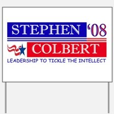 Stephen Colbert Tickles Yard Sign