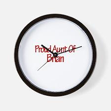 Proud Aunt of Brian Wall Clock