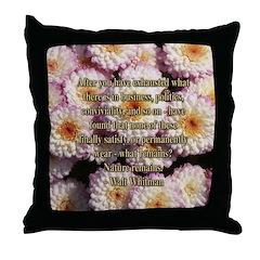 Walt Whitman Nature Quote Throw Pillow