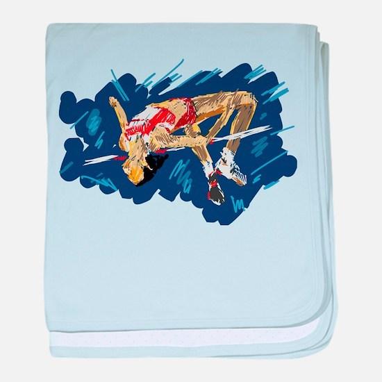 High Jumping Athlete baby blanket