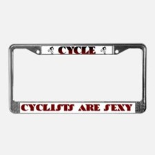 CYCLISTS ARE SEXY License Plate Frame