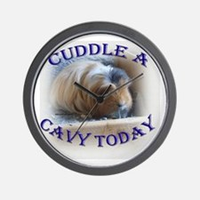 'Cuddle A Cavy Today' Wall Clock