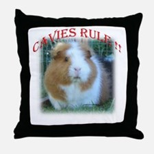 'Cavies Rule' Throw Pillow