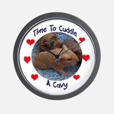 'Time To Cuddle A Cavy' Wall Clock
