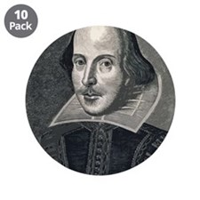 "Wm Shakespeare 3.5"" Button (10 pack)"