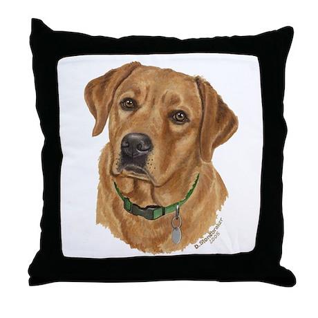 Fox Red Labrador Throw Pillow