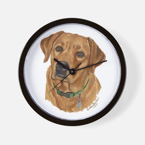Fox Red Labrador Wall Clock