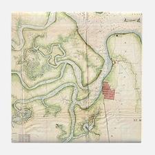 Map of florida Tile Coaster