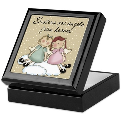 Sisters Are Angels From Heaven Keepsake Box