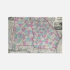 Cute Georgia map Rectangle Magnet