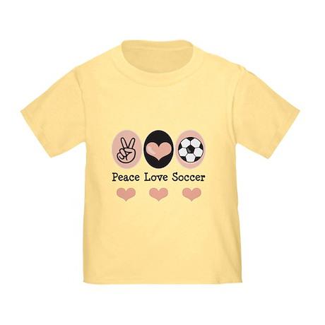 Peace Love Soccer Toddler T-Shirt