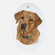 Fox Red Labrador Keepsake (Oval)