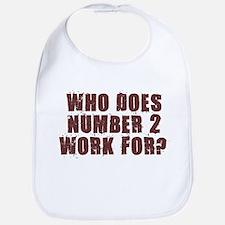 NUMBER 2 SHIRT POOP HUMOR AUS Bib