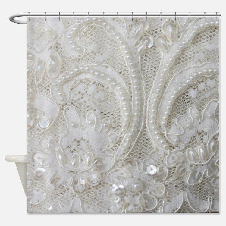 Shabby Chic Shower Curtains Shabby Chic Fabric Shower