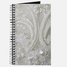 boho chic white lace Journal