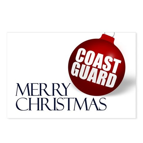Merry Coast Guard Christmas Postcards (Package of