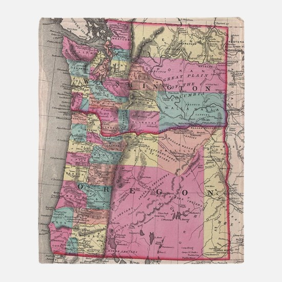 Cute Washington state Throw Blanket