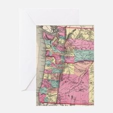 Funny Map oregon Greeting Card