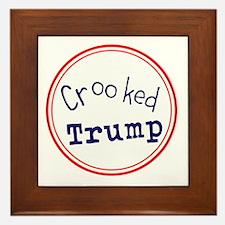 Crooked Trump Framed Tile