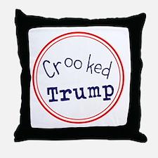 Crooked Trump Throw Pillow