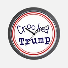 Crooked Trump Wall Clock