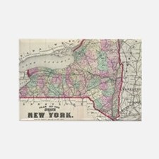 Unique New york state Rectangle Magnet