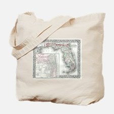 Unique Map of florida Tote Bag