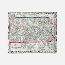 Vintage maps Throw Blanket