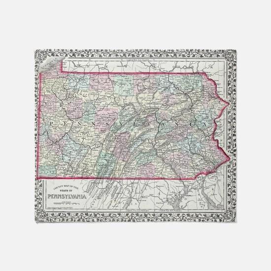 Cute Pennsylvania Throw Blanket