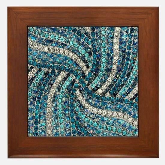 Cool Sparkle Framed Tile