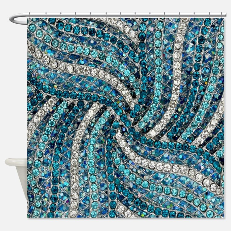 Rhinestone Shower Curtains Rhinestone Fabric Shower