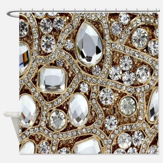 Funny Bling Shower Curtain