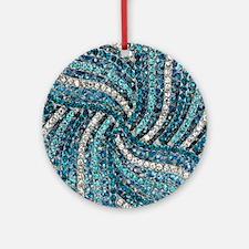 Unique Turquoise Round Ornament