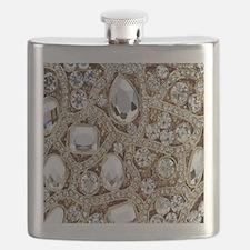 Cute Rhinestone Flask