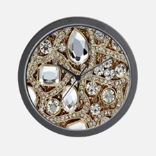 Cute Metallic Wall Clock