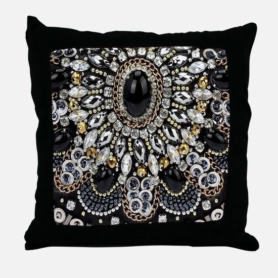 Unique Black diamond Throw Pillow