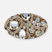 Funny Jewel Oval Car Magnet