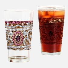 Funny Rhinestone Drinking Glass