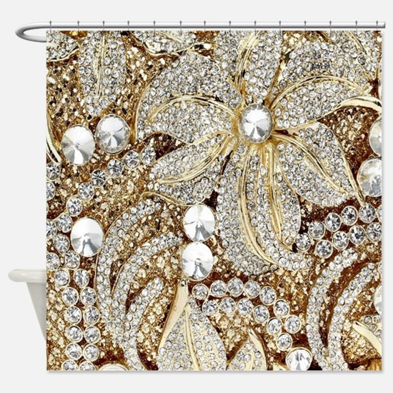 Cute Bling Shower Curtain