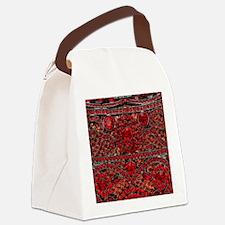 Unique Red Canvas Lunch Bag