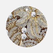 Cute Gold Round Ornament