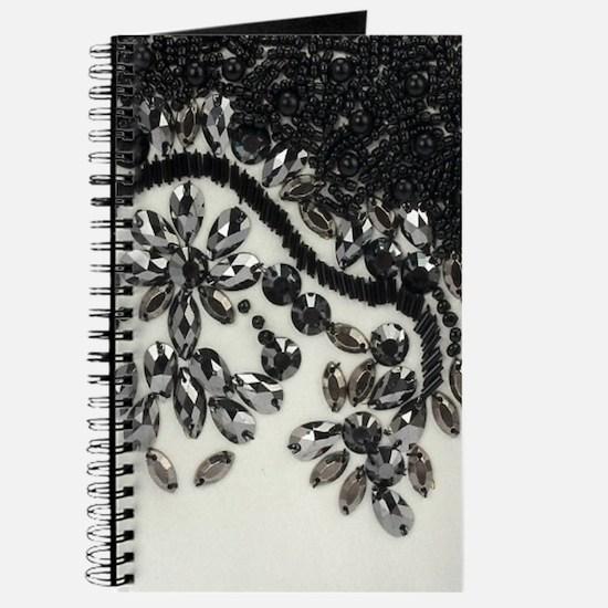 boho floral black rhinestone Journal