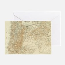 Cool Map oregon Greeting Card