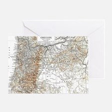 Map oregon Greeting Card