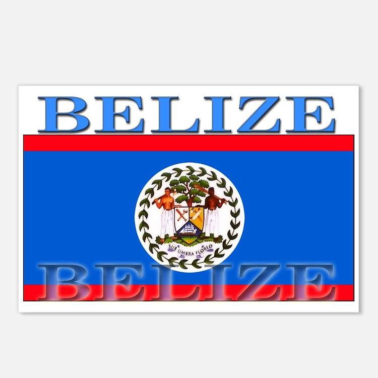 Belize Belizean Flag Postcards (Package of 8)