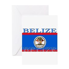 Belize Belizean Flag Greeting Card