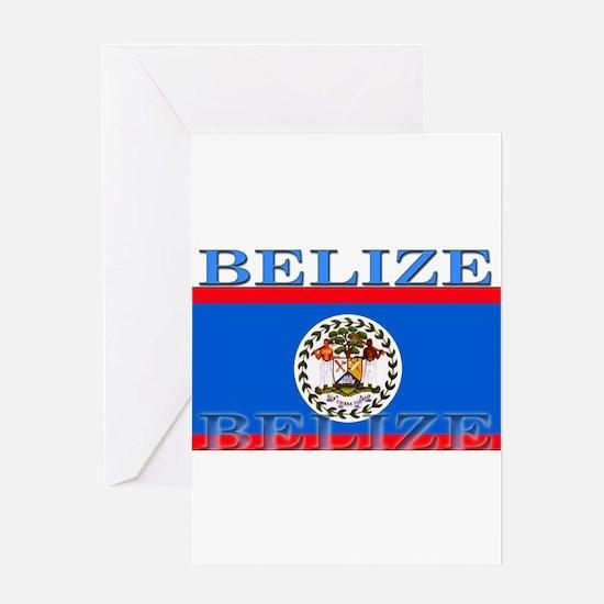 Belize Belizean Flag Greeting Card