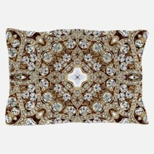 rose gold rhinestone bohemian Pillow Case