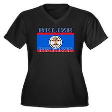 Belize Belizean Flag Women's Plus Size V-Neck Dark