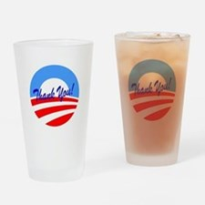 Thank You Obama Drinking Glass